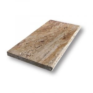 2 inch 12 X 24 Scabos Bullnose Travertine Pool Coping