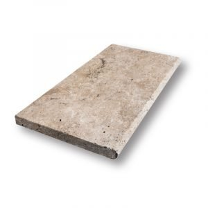 2 inch 12x24 Country Classic Bullnose Travertine Pool Coping